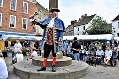 Knaresborough - Town Crier (Paul Thackray) Tags: yorkshire northyorkshire knaresborough towncrier blindjack johnmatcalf bell marketday 2017