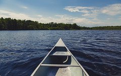 Canoe on Savanna Lake, Minnesota (Tony Webster) Tags: alumacraft minnesota savannalake savannaportagestatepark canoe canoerental canoeing lake spring statepark summer trees mcgregor mn unitedstates us wmc1830