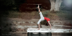 "Le Yoga Matinal ... ( P-A) Tags: yoga discipline croyance styledevie souplesse jeunefemme belle agile sportive été campingvoile pointepinhey cvgr lacdeschênes photos simpa© ""nikonflickraward"""