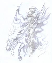 ilustracion a lapiz (ivanutrera) Tags: ilustracion draw dibujo drawing dibujoalápiz sketch sketching caballo animal horse skull craneo calavera calaca pencil