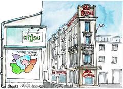 Angers, Hôtel Continental (Croctoo) Tags: croctoo croquis croctoofr aquarelle watercolor angers maine et loire ville