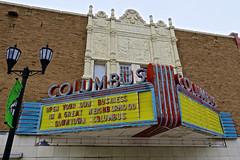 Columbus Theatre, Columbus, NE (Robby Virus) Tags: columbus ne nebraska theatre theater cinema movies artdeco marquee neon sign signage