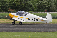 G-AZII (QSY on-route) Tags: gazii lincoln aero club mid summer fly in sturgate 04062017