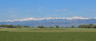 The Front Range (Indian Peaks) from Berthoud, CO