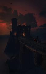 Arrival (imkairu) Tags: tw3 witcher 3 geralt ciri sunset novigrad bridge horse roach water night nvidia ansel sky