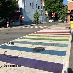 #activetransportation still #mostinclusivecity in the 🌎. ❤️ DC #whymetrowednesday ️‍🌈 #DC #instaDC #DCRainbowCrosswalks