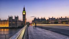 Westminster time (BAN - photography) Tags: westminsterbridge bigben clock london longexposure chimneys spires railing