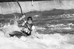 Determination (PhredKH) Tags: leavalley kayak kayakcentre whitewater water watersport blackandwhite blackwhite whiteblack whiteandblack monochrome bw outdoorphotography outdoor outdoors sport canon canon7dmkii 70200mm canonphotography canoneos outdoorsport photosbyphredkh determination concentration phredkh fredkh