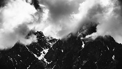 Cosmic (Vilvesh) Tags: sikkim babamandir nathulapass mountains clouds fog nature nikond750 india incredibleindia monochrome bw snowcappedmountains 13000ft landscape mountain yumthangvalley lachung 15000ft cosmic