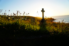 Above and Below (JamieHaugh) Tags: stives cornwall england uk sony a6000 outdoors evening sunset sun grave graveyard nature grass sky color porthmeor barnoon cemetery landscape