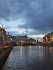 Stora Hamnkanalen and sky from Tyska bron, summer twilight, Gothenburg, Sweden (Paul McClure DC) Tags: gothenburg göteborg sweden sverige july2015 historic architecture