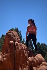 Mountain Views (Michael Sprabary) Tags: colorado rock climber nature mountain scenic monolith garden gods daylight girl athlete