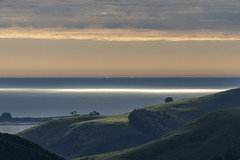 A line in the sea (Ian@NZFlickr) Tags: sun sea pacific otago peninsula dunedin nz