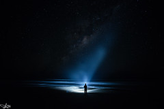 Star Man. .. (e0nn) Tags: fraserisland night nocturnal wind stars ocean beach pentax k1 pentaxk1 steveselbyphotography steev steveselby sigma 14mm 14mmf28 sigma14mmf28 milkyway lightpainting lightroom