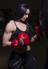 Stefanija (salas-3) Tags: athletic people one portrait beautiful boxer boxing muscle strong fit red gloves fitness girl