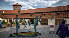 Peeing Statues [David Černý] (emptyseas) Tags: peeing statues david černý emptyseas nikon d800 prague czech republic
