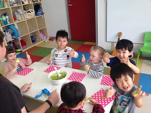 Everyone loves the guacamole we made at Star Kids International Preschool, Tokyo. #starkids #international #preschool #school #children #kids #kinder #kindergarten #daycare #fun #shibakoen #minatoku #tokyo #japan #instakids #instagood #twitter #子供 #幼稚園 #保