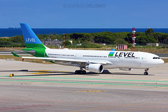 EC-MOU / Level / Airbus A330-202 / Barcelona (BCN/LEBL) / 05-07-2017 (ManuelDelAmo) Tags: ecmou level iberia airbus a330202 a332 a330 ibe2611 aviation civilaviation commercialaviation aircraft airplane plane heavy widebody taxiing departure takeoff runway 07r photography aviationphotography spotting planespotting jetphotos wwwjetphotosnet airport barcelona bcn lebl elprat elpratdellobregat manueldelamo