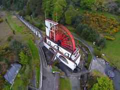 """LAXEY WHEEL (LADY ISABELLA), LAXEY, ISLE OF MAN, UNITED KINGDOM. (ZACERIN) Tags: """"laxey wheel"""" """"lady isabella"""" """"laxey"""" """"isle of man"""" """"united kingdom"""" """"24 september 2004"""" """"largest working waterwheel in the world"""" """"the great laxey """"lieutenant governor charles hope"""" wheel mines trail"""" """"water """"pictures """"history """"zacerin"""" """"christopher paul photography"""" """"outdoors"""" """"landscape"""" """"drone pictures"""" pictures lady """"aerial """"great mines"""" """"red"""" """"water"""""""