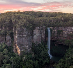 Belmore Falls at dusk (keithhorton3) Tags: waterfall australia belmore dusk nature nsw landscape red hdr canon 6d new south wales