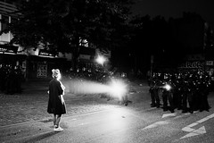 G20 in Hamburg (5) - July, 2017 (Konrad Lembcke) Tags: g20 hamburg germany black white police polizei summit protest demonstration sternschanze schanzenviertel schulterblatt low light night street photography