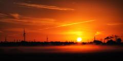 Sunrise (StoneAgeKid) Tags: sunrise alte land hamburg fog nebel morgentau frühnebel