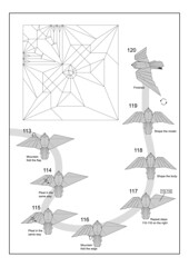 Sparrowhawk diagram final page (Mdanger217) Tags: max danger origami sparrowhawk diagram cp inkscape