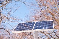 Solar energy (KwikPlumbers) Tags: alternative alternativeenergies blue electricity electricitygeneration energy light panel photovoltaic photovoltaicsystem renewable renewableenergies renewableenergy sky solar solarenergy solarpanel solarpower solarsystem trees