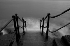 Sidmouth Steps (Jacob Kenworthy) Tags: devon sidmouth nikon monochrome movement motion moody bw blackandwhite beach sea seascape landscape light le longexposure landscapes