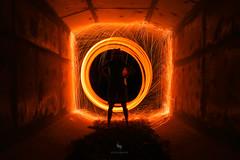 Fire Tunnel (hisalman) Tags: fire tunnel steelwool hisalmanphotography longexposure