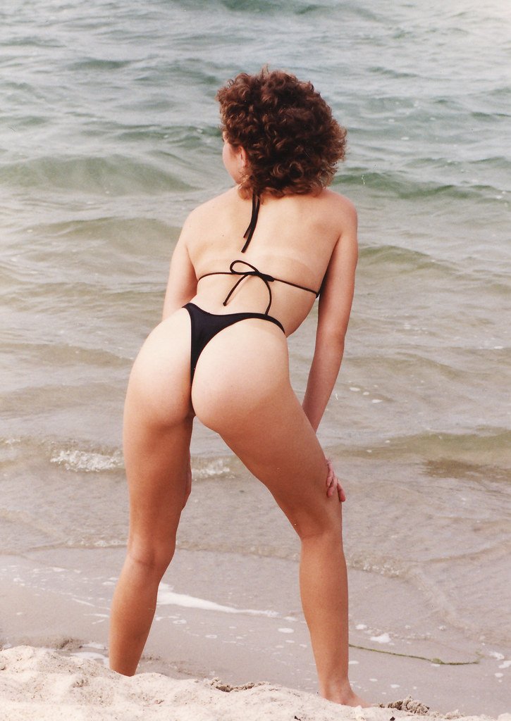 Wife ass beach