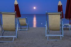 (86nik) Tags: moon moonlight night sea seascape seabeach sand horizon relax postcard calabria italia italy nature