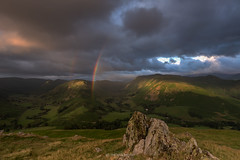 Patience is key (See-Through-My-Lens) Tags: landscape sunrise hallin fell weather patience canon lake district hills mountains ngc rainbow double