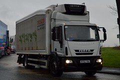 Stobart F1574 BT62 YNA at Widnes 3/3/17 (CraigPatrick24) Tags: eddiestobart stobartgroup stobart road vehicle transport truck lorry trailer delivery logistics cab iveco eurocargo widnes f1574 tesco fridge rigid fridgid bt62yna