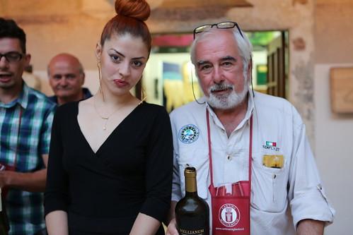 Carlo La Rovere e la sommellier