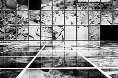 IMG_2824 (Kathi Huidobro) Tags: brokenearth monochrome bw squares pattern photographyexhibition exhibition photography blackwhite london whitechapelgallery abstract grid