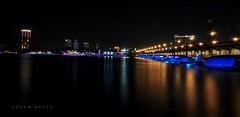 Cairo By Night .. Glorious Nile (Hazem Hafez) Tags: nile cairo egypt bridge night lights water longexposure