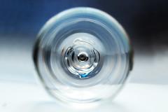 Bottoms up (nihilsineDeo) Tags: glass chromaticaberrations art blue mm macromondays 50mm canon hmm bottomsup