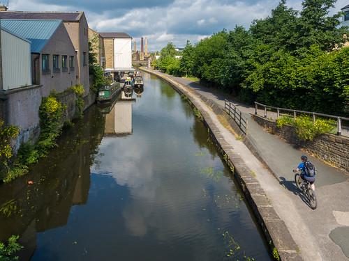 Shipley Canal walk sunny Sunday