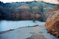 New Melones (m.ashe7) Tags: newmelonesreservoir newmelones 2015 drought northerncalifornia stevenotbridge california winter december christmas outdoors roads infrastructure reservoir lake cliffs mountains