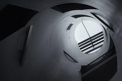 Wells of Light (wawrus) Tags: modern architecture school light skylight tunnel well shadows cylinder lookup zeiss nikon zf2 50mm planart1450 d800e