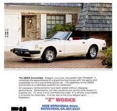 1981 Datsun 280ZX Convertible (aldenjewell) Tags: 1981 datsun 280zx convertible brochure z works sepulveda ca
