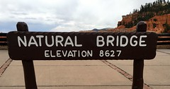 Utah - Bryce Canyon Nation Park - Natural Bridge - Elevation Sign (jared422_80) Tags: utah bryce canyon may 2016