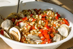 Clams with Roasted Corn and Pepper with Orecchiette (Tom Ipri) Tags: pasta clams diningin
