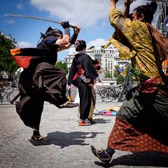 Pompidou Samurai (Square Photography UK) Tags: robhall squarephotography france paris samurai pompidoucentre swords warriors