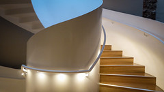 Spiral Curves (Theen ...) Tags: curve curved design hand handrail hobart lights lumix minimal museum rail spiral staircase stairs theen white tasmanianmuseumandartgallery