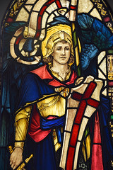 St Michael (1926) (Simon_K) Tags: ely cambridgeshire cambs eastanglia cathedral window glass stained sgm nikon d5300