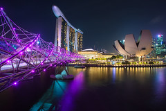 The Helix bridge with Marina Bay Sands in background, Singapore (Photowithyou) Tags: architecture arts asia asian bay buildings business city citystate cityscape coast country dawn day district dusk esplanade evening famous financial harbor helix high hotel landmark landscape location marina modern morning museum national night reflection rises river sands scene scenery sea singapore skyline sunset traffic twilight view water waterfront