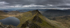 panorama (Phil-Gregory) Tags: redtarn glenriding lakedistrict lake water black stridingedge mountain wild hike nikon d7200 tokina 1116mm 1116mmf8 116proatx wideangle ultrawide national nature nationalpark naturalphotography naturalworld natural naturephotography panorama park beauty clouds sky moody peak fly peace field