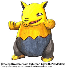 Drowzee from Pokemon GO with ProMarkers [Speed Drawing] (drawingtutorials101.com) Tags: drowzee pokemon go pokémon video games augmented niantic dennis hwang junichi masuda promarkers promarker alcohol markers marker color colors coloring draw drawing drawings how time timelapse